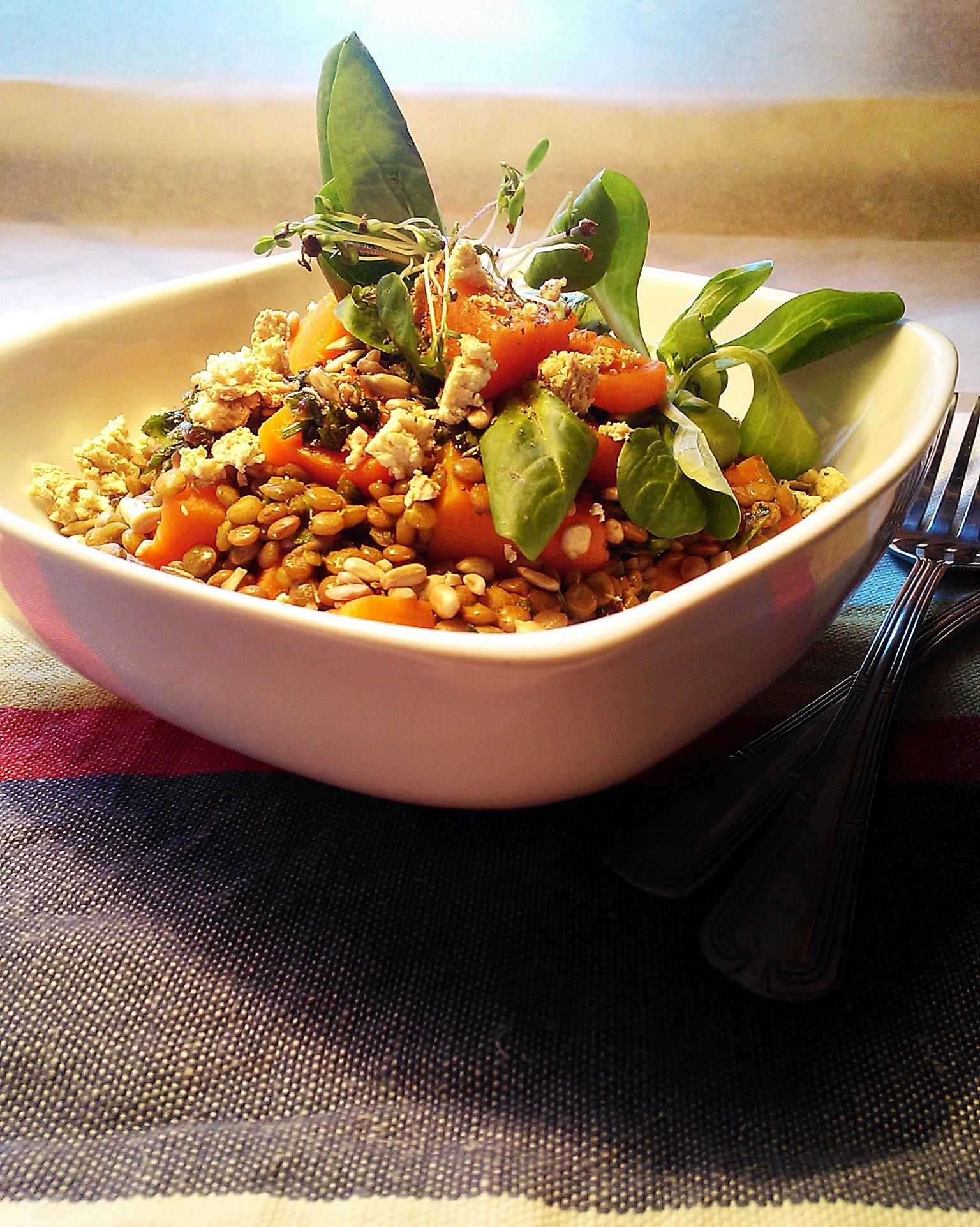 Insalata di lenticchie zucca e coriandolo vegan in chic for Lenticchie d acqua