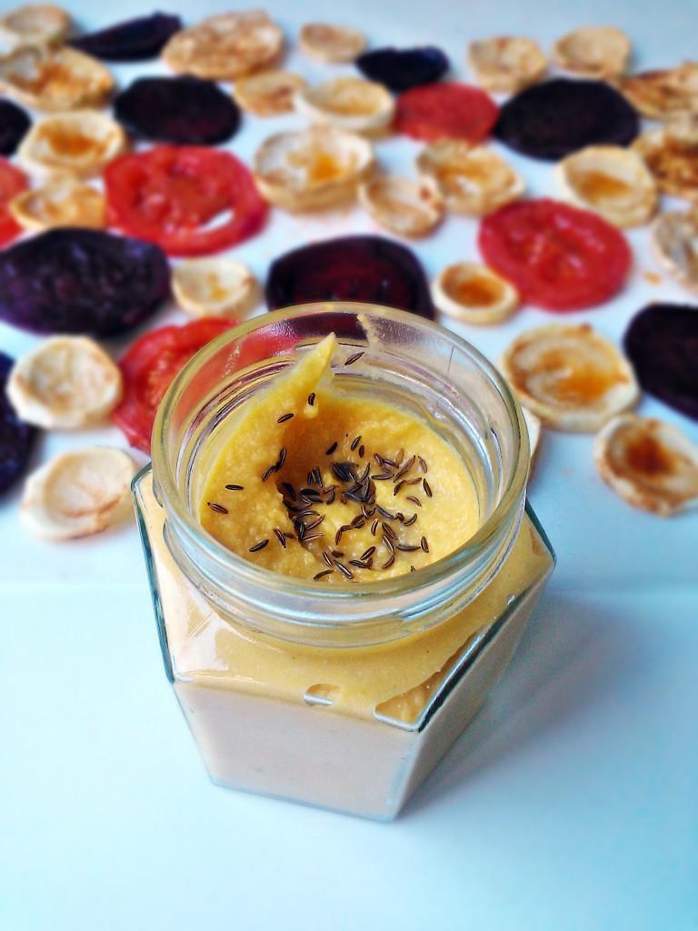 Hummus con zucca arrosto