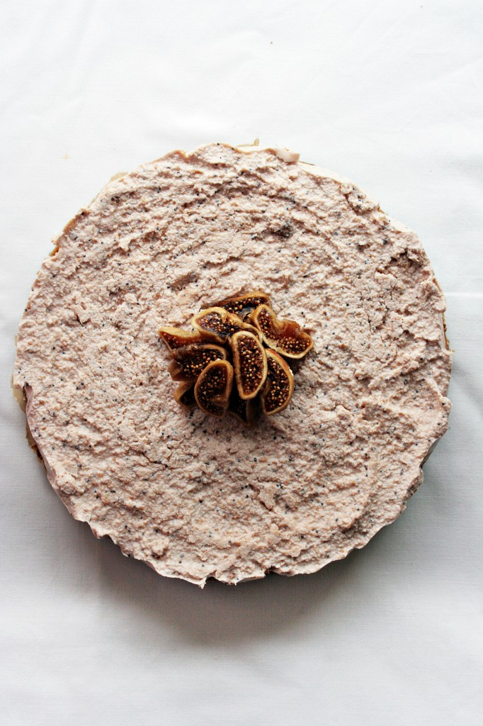 Cashew & sun dried fig cake