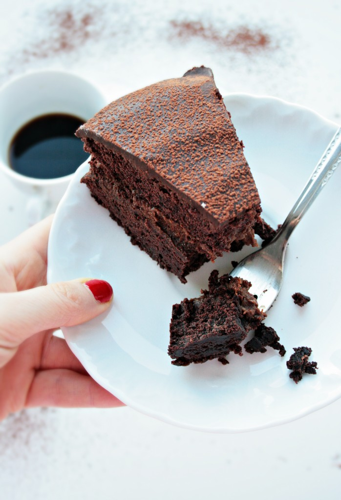 Decandente torta pezzo