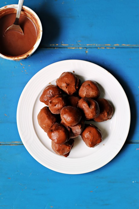 Praline al cioccolato fondente